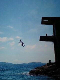 飛び込み〜